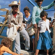 Citizens from El Salvador in a refugee camp in Honduras due to the Salvadorian Civil War. 1982